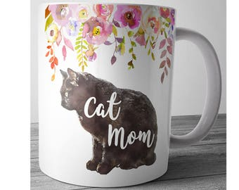 Cat Mom Mug, Cat Lover Gift, Cat Mug, Mom Coffee Mug, Cute Coffee Mug, Mothers Day Gift, Mother Gift, Desk Accessories, Office Gift