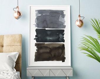 Large Abstract Wall Art, Large Abstract Print, Abstract Art, Abstract Watercolor, Gray Wall Art, Extra Large Print, Abstract Artwork