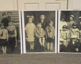 "Vintage ROARING 20's FAMILY PORTRAITS  Calumet City, Illinois  28""x 22"""