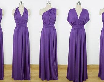 Purple Maxi Infinity Dress, Convertible Bridesmaid Dress, cheap prom dress, Evening Dress,Multiway Dress, Wrap Dress, formal Dress