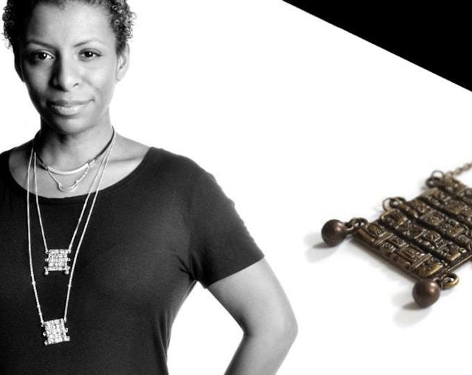 Maya necklace bronze.
