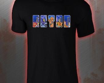 RETRO He-Man style premium 100% cotton loose fit t shirt