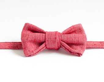 Handmade Bow Tie - Distressed Red