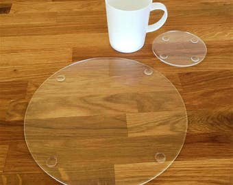 Round Placemats Etsy - Clear placemats for table
