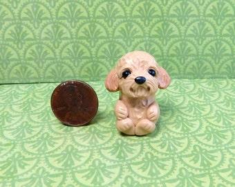 Totem Goldendoodle, Pocket Goldendoodle Sculpture, goldendoodle gift, Goldendoodle pocket pal by Raquel at theWRC clay DOG