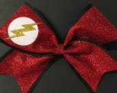 3in. Glitter Flash Gordon Superhero Cheer Bow