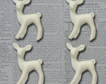 Maya Road Oh Deer Resin Charms - Cream