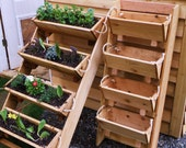 "New 24"" vertical gardening raised elevated planting system vegetables garden planter kit, cedar planter, herb planter, garden, gardening"