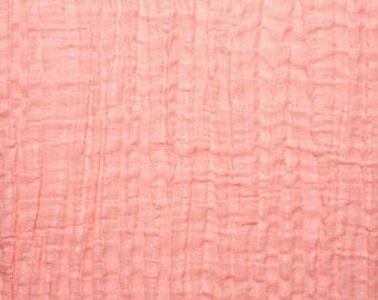 Coral Double Gauze, Shannon Fabrics Double Gauze, Coral fabric, Embrace Double Gauze Cotton Solid, Cotton Muslin Swaddle Fabric, 100% cotton