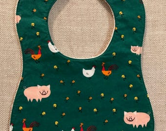 Baby Bib in Ed Emberley Barnyard Animals