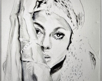 Diana Ross Motown Detroit Watercolor Illustration Portrait Music Print Wall Decor Limited Edition Poster Print