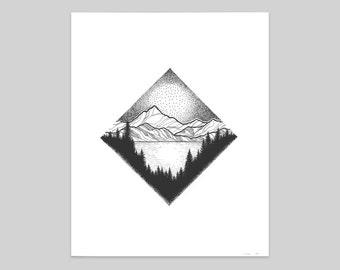 Glacier National Park Print - Diamond