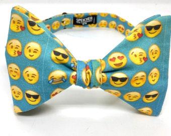The Emoji Bow Tie - bowtie, bowties, bow ties, self tie, pre-tied, boys, mens, unisex, emojis, geek, geeky chic, nerd, wedding, groom