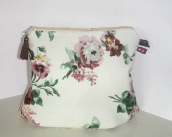 Cosmetics bag beauty case toiletry bag rose