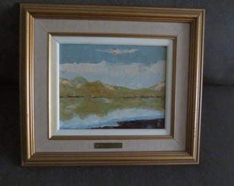 Vintage Framed Oil Painting by Olivier de France , Landscape Painting