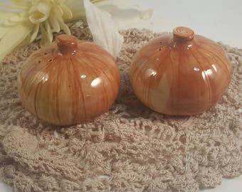 Vintage Otagiri Salt and Pepper Shakers~ Hand-painted Onion