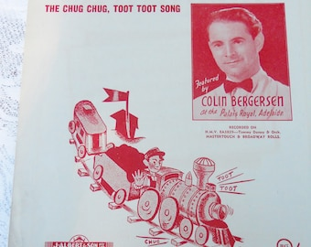 """1948 Sheet Music """"Down by the Station"""" Colin Bergersen"""