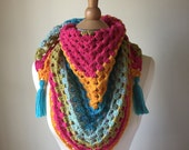 Crochet Triangle Scarf, R...