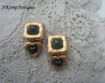 Vintage earrings clip ons