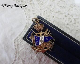 Old enamel fob /pendant