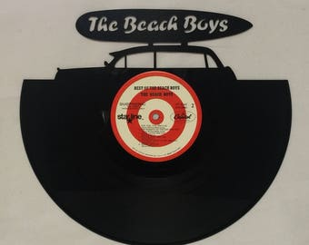 Recycled Vinyl Record BEACH BOYS Wall Art