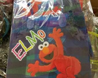 ELMO, Sesame Street, party favor bags, small 12ct.