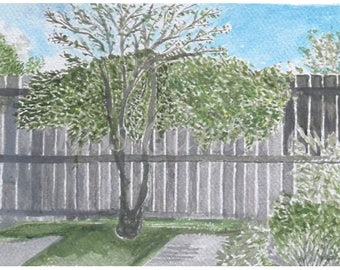 Custom 9 in. x 12 in. Watercolor Landscape - Great Gift for Any Occasion