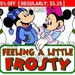 On SALE Now - Disney Feeling a Little Frosty Mickey and Minnie Snowman Disney Scrapbook Paper Piece Piecing