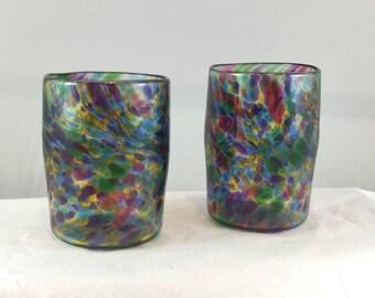 Handblown Glass Tumblers - Multicolor
