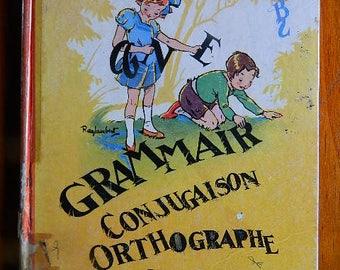Grammar school book, conjugation, spelling, elementary course