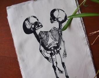 Two headed human skeleton anathomy patch - bicefalia