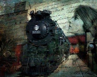 Freedom Train, Train, Red, Black, Green, History Locomotive, Engine, Steam Engine, Railway, Liberty Train, Black Train Engine, Caboose