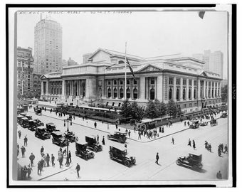 New York Public Library, 42nd Street and 5th Avenue, New York City, NYC