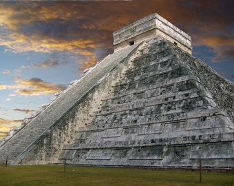 Chichen Itza, one of the 7 wonders, Mexico, Pyramid Photo, Mayan