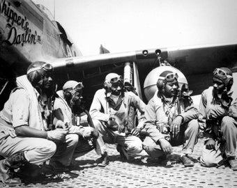 Pilots of the 332nd, Tuskegee Airmen, WWII, Photo