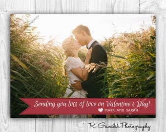 Printable Photo Valentine | Sending Lots of Love | Happy Valentine's Day Card with Photo | Custom Valentine's Photo Card | Happy Heart Day