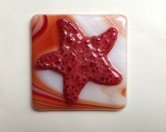 Starfish, Changeables, Changeable, Cover, Night Light, Fused Glass, Wish Upon a Star, Summer, Fused Glass Shade, Fused Glass Art, Beach