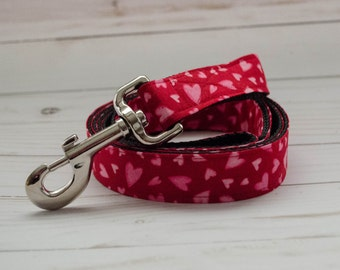"The ""Be My Valentine"" 5 Foot Leash to match Bow Tie and Flower Collars"