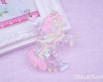 Carousel Pony Magical Dreamy Lolita Pastel Pretty Unicorn Harajuku Princess Necklace