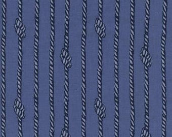 1 Yard S.S. BLUEBIRD Collaborative by Cotton & Steel Tied In Knots Blue