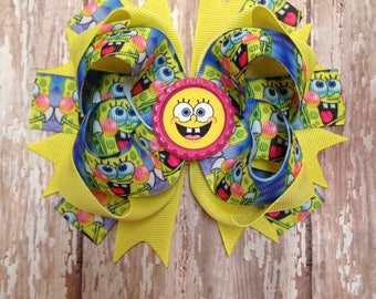 Spongebob Square Pants Hair Bow