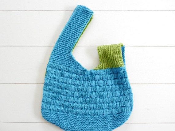 Knot Bag Knitting Pattern : Japanese Knot Purse - KNITTING PATTERN (147) from WoolAffair on Etsy Studio