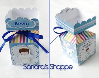 10 Baptism favor box, Baptism candy favor box, we will personalize for you. Lembrancinhas para batismo, Caixinha para lembrancinha.