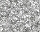 Green Wall in Black- Friedlander by Carolyn Friedlander for Robert Kaufman