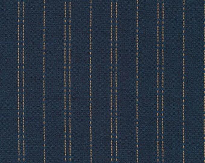 Robert Kaufman Indikón- Dotted Stipes Yarn Dyed in Denim