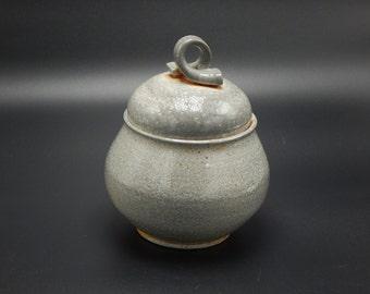 Ceramic Jar -  Soda Fired Pottery - Grey Jar