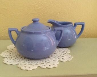 Vintage Sugar and Creamer / Liptons Tea / Hall