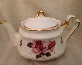 Arthur Wood England China Rose Pattern teapot