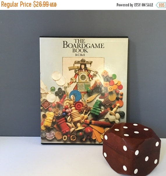 ON SALE RC Bell The Boardgame Book, Vintage 1979 Edition Book of Board Game History and Playable Posters