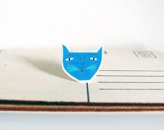 Cat Face shrink plastic Brooch Badge
